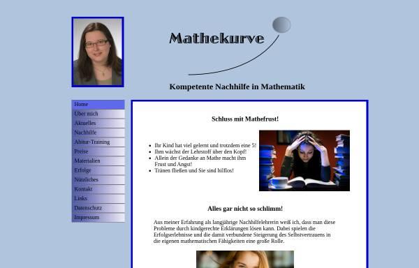 Vorschau von www.mathekurve.de, Mathekurve, Inh. Marion Leistenschneider