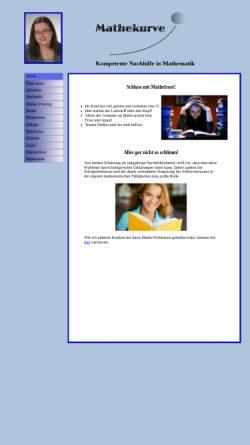Vorschau der mobilen Webseite www.mathekurve.de, Mathekurve, Inh. Marion Leistenschneider