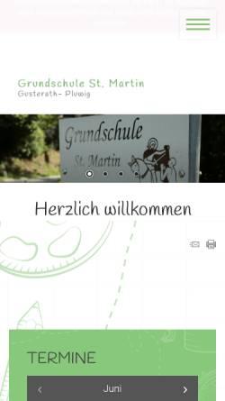 Vorschau der mobilen Webseite www.grundschule-gusterath-pluwig.de, Grundschule St. Martin Gusterath-Pluwig