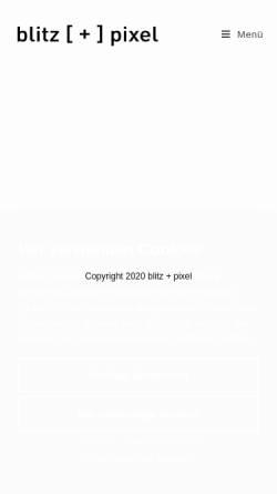 Vorschau der mobilen Webseite www.blitzundpixel.de, Blitz+Pixel, Inh. Martin Schäuble