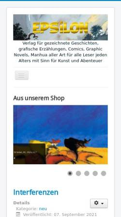 Vorschau der mobilen Webseite www.epsilongrafix.de, Epsilon Verlag