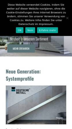 Vorschau der mobilen Webseite www.deutschemetall.com, DeutscheMetall GmbH