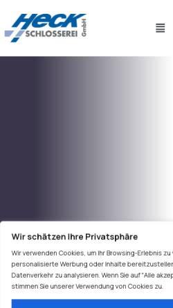 Vorschau der mobilen Webseite www.schlosserei-heck.de, Klaus Heck GmbH