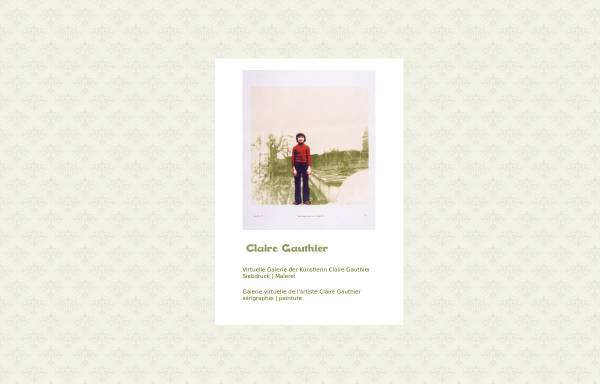 Vorschau von www.claire-gauthier.com, Gauthier, Claire