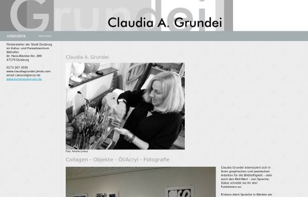 Vorschau von www.claudiagrundei.de, Grundei, Claudia