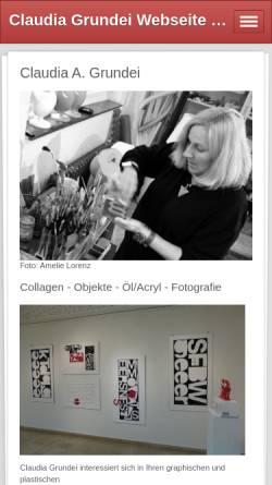 Vorschau der mobilen Webseite www.claudiagrundei.de, Grundei, Claudia