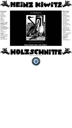 Vorschau der mobilen Webseite www.heinzkiwitz.de, Kiwitz, Heinz