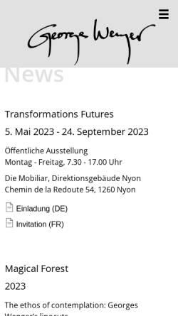 Vorschau der mobilen Webseite www.georgeswenger.ch, Wenger, Georges