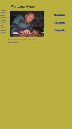 Vorschau der mobilen Webseite druckgrafik-wolfgang-werner.de, Werner, Wolfgang