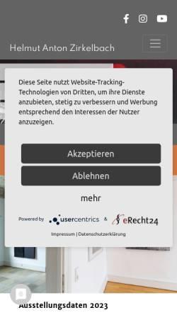 Vorschau der mobilen Webseite www.helm-zirkelbach.de, Zirkelbach, Helmut Anton