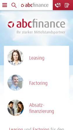 Vorschau der mobilen Webseite www.abcfinance.de, abcfinance GmbH