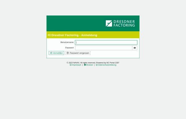 Vorschau von www.dresdner-factoring.de, Dresdner Factoring AG