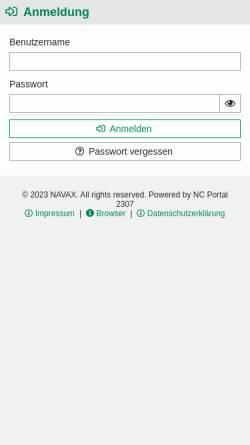 Vorschau der mobilen Webseite www.dresdner-factoring.de, Dresdner Factoring AG
