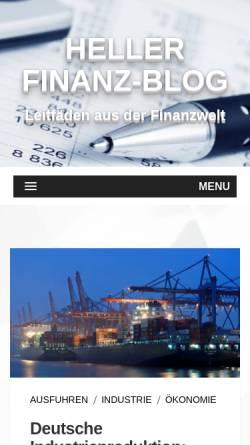 Vorschau der mobilen Webseite www.heller-bank.de, GE Capital Bank AG