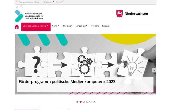 Vorschau von www.demokratie.niedersachsen.de, Niedersächsische Landeszentrale für politische Bildung (NLpB)