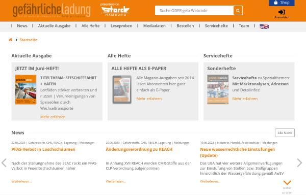 Vorschau von www.gelaweb.de, Gefährliche Ladung
