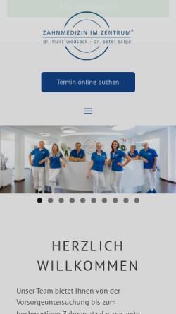Vorschau der mobilen Webseite www.dr-wodsack-waldmann.de, Dr. M. Wodsack und G. Waldmann