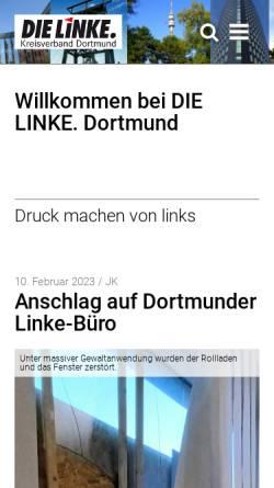 Vorschau der mobilen Webseite www.dielinke-dortmund.de, Die Linke. Kreisverband Dortmund