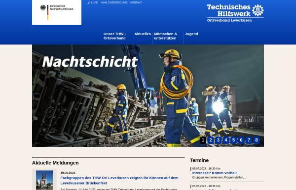 Vorschau von www.thw-leverkusen.de, THW Ortsverband Leverkusen