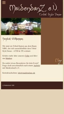 Vorschau der mobilen Webseite www.maidendanz.de, Maidendanz