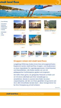 Vorschau der mobilen Webseite www.stadtlandfluss.de, Stadt land fluss Gruppen- und Studienreisen GmbH