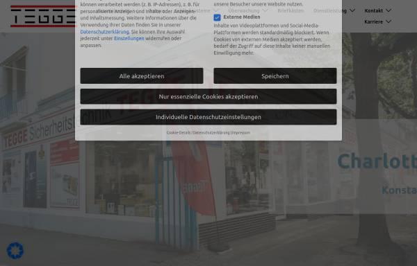 Vorschau von www.tegge.com, Berliner Schlüsseldienst K.R. GmbH