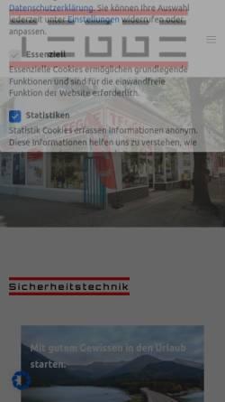 Vorschau der mobilen Webseite www.tegge.com, Berliner Schlüsseldienst K.R. GmbH