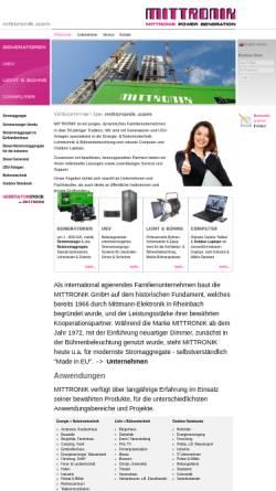 Vorschau der mobilen Webseite mittronik.com, MITTRONIK GmbH