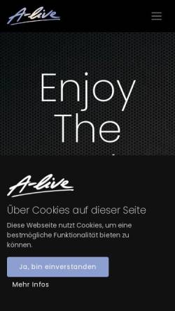 Vorschau der mobilen Webseite a-live.at, A-Live