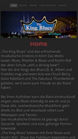 Vorschau der mobilen Webseite www.thekingblues.de, The King Blues