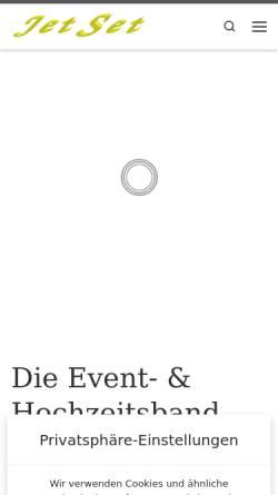 Vorschau der mobilen Webseite www.band-jetset.de, JET SET