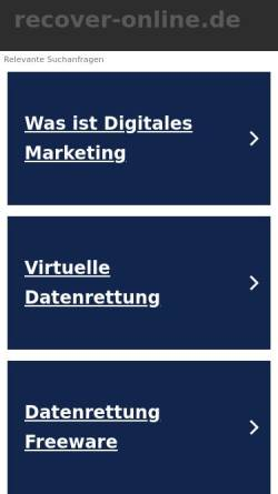 Vorschau der mobilen Webseite www.recover-online.de, Recover