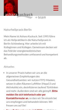 Vorschau der mobilen Webseite www.asharakuckuck.de, Ashara Kuckuck