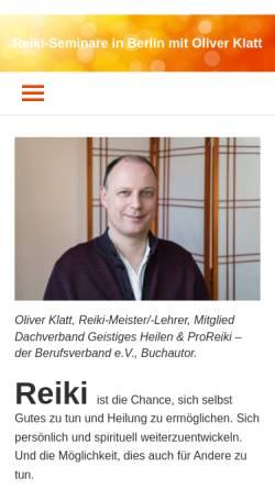 Vorschau der mobilen Webseite www.einfach-nur-reiki.de, Oliver Klatt