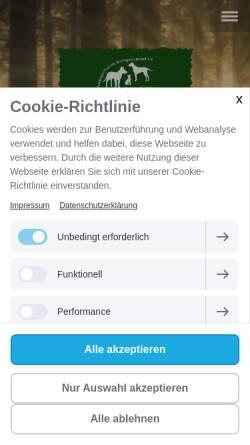 Vorschau der mobilen Webseite www.hundesportverein-willingen.de, HSV Willingen e.V.