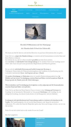 Vorschau der mobilen Webseite www.hundeschule-erbach.de, Hundeschule Erbach
