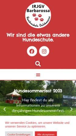 Vorschau der mobilen Webseite www.irjgv-barbarossa.de, IRJGV Barbarossa