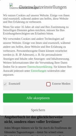 Vorschau der mobilen Webseite www.buchmarkt.de, BuchMarkt Online