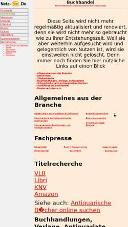 Vorschau der mobilen Webseite www.netz-tipp.de, Netz-Tipp: Buchhandel