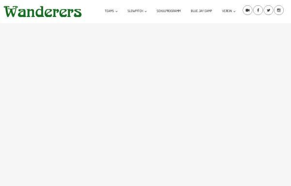 Vorschau von www.wanderers.at, Baseball- und Softballverein Vienna Wanderers