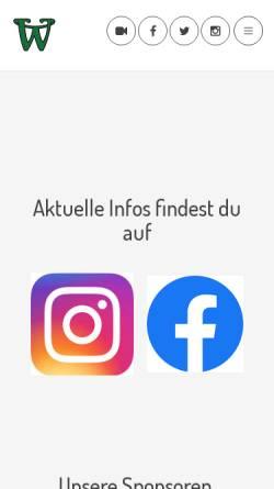 Vorschau der mobilen Webseite www.wanderers.at, Baseball- und Softballverein Vienna Wanderers