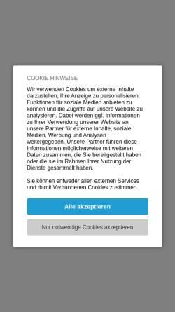 Vorschau der mobilen Webseite www.blau-weiss.at, Tennisclub Blau-Weiss Wien