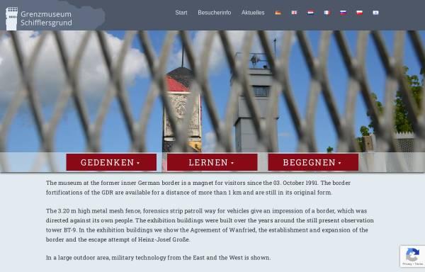 Vorschau von www.grenzmuseum.de, Das hessisch-thüringische Grenzmuseum Schifflersgrund
