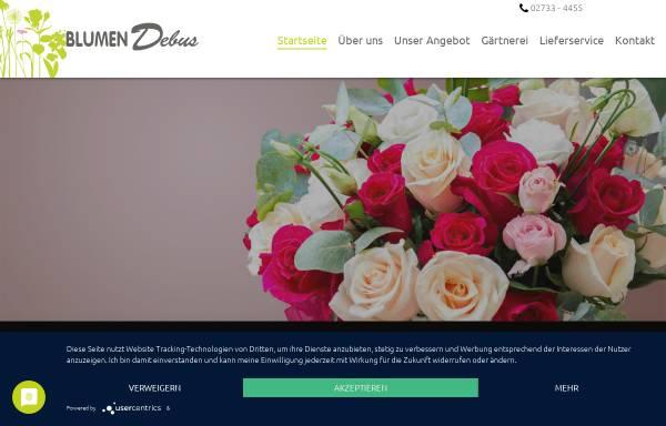 Vorschau von www.blumen-debus.de, Blumen Debus