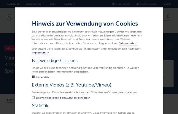 Vorschau von www.schleswig-holstein.de, Innenministerium der Landes Schleswig-Holstein