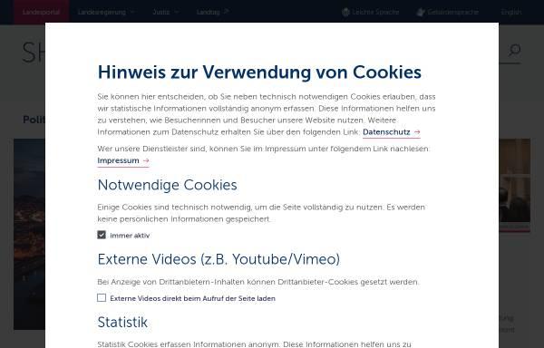 Vorschau von www.schleswig-holstein.de, Landesregierung Schleswig-Holstein