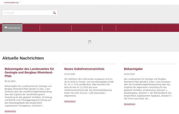 Vorschau von www.lgb-rlp.de, Landesamt für Geologie und Bergbau