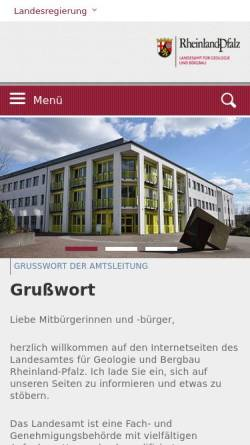 Vorschau der mobilen Webseite www.lgb-rlp.de, Landesamt für Geologie und Bergbau