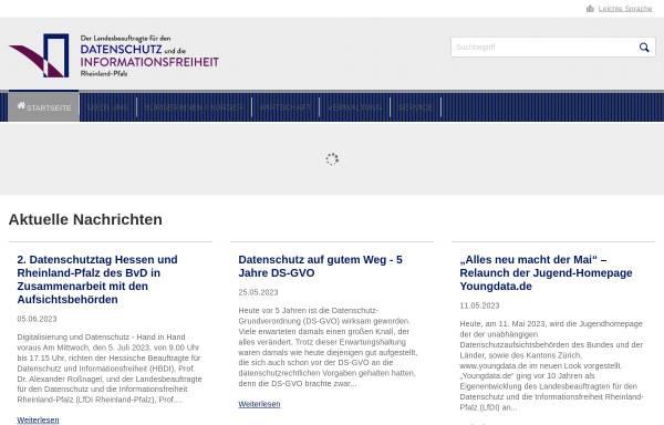 Vorschau von www.datenschutz.rlp.de, Der Landesbeauftragte für den Datenschutz Rheinland-Pfalz