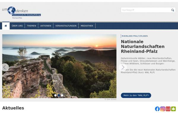 Vorschau von www.umdenken.de, Landeszentrale für Umweltaufklärung (LZU)